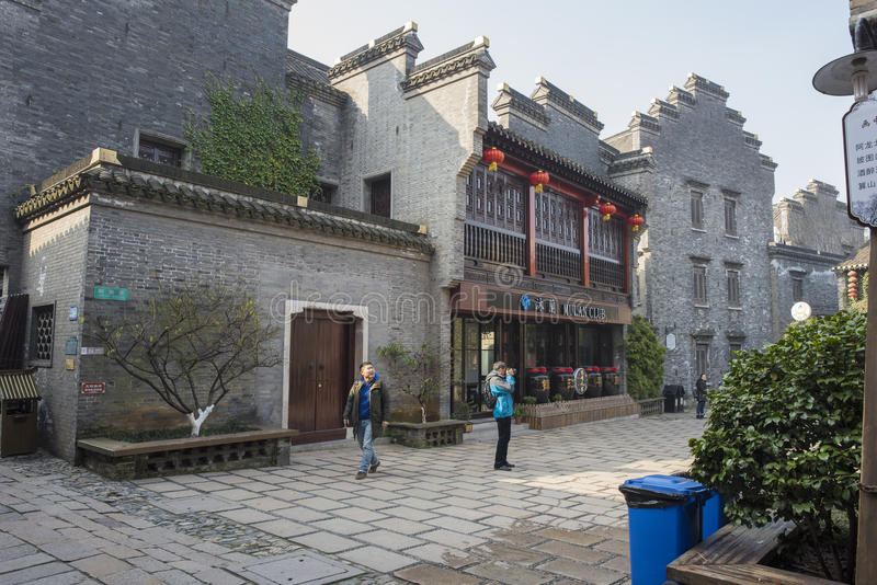 Zhenjiang ancient ferry xinjin antique buildings. Zhenjiang ancient ferry xinjin is the Yangtze river, an ancient ferry experience sui six dynasties of tang and stock photos