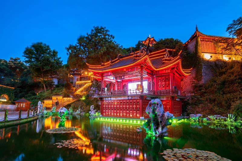Ancient stage in Zhenjiang, China royalty free stock image