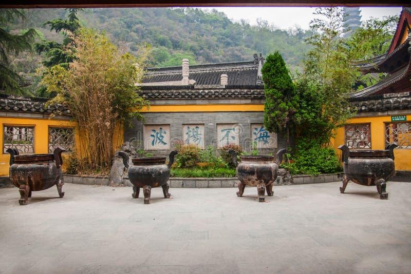 Zhenjiang Jiao Mountain Dinghui Temple royalty-vrije stock fotografie