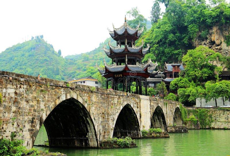 Zhenyuan är den forntida staden en berömd stad med en historia av över 2000 år royaltyfri foto