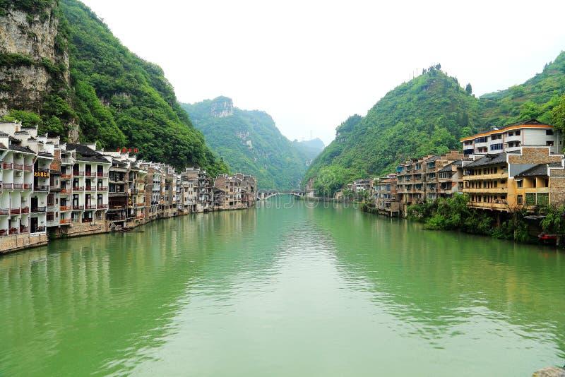 Zhenyuan är den forntida staden en berömd stad med en historia av över 2000 år arkivfoto