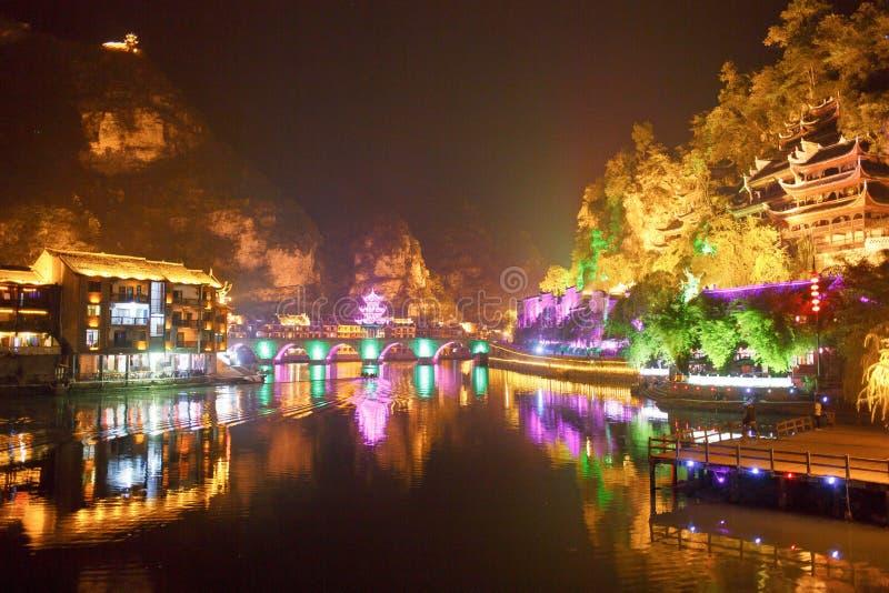 Zhenyuan Ancient Town in Guizhou China royalty free stock photo