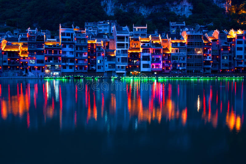 Zhenyuan Ancient Town on Wuyang river in Guizhou Province, China. It is under the administration of the Qiandongnan Miao and Autonomous Prefecture royalty free stock photos