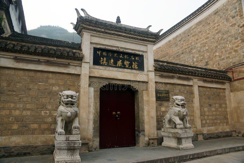 Zhenyuan mässhall royaltyfri fotografi