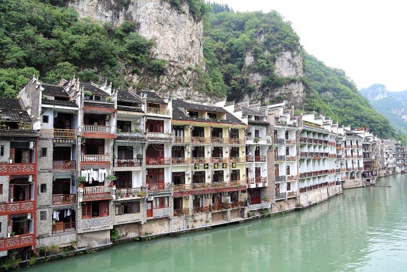 Zhenyuan, una città antica in Guizhou, Cina fotografie stock