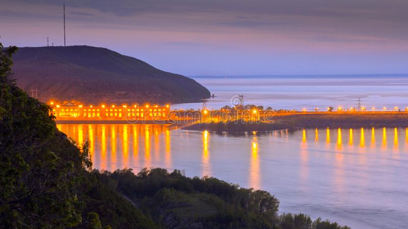 Zhigulevskaya hydroelectric power station stock photos