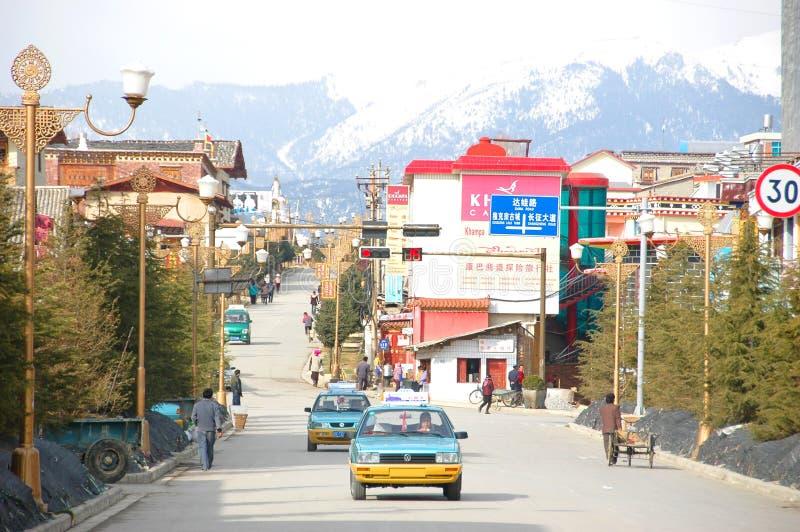 ZHONGDIAN, CHINA - 20 DE MARÇO: Cidade de Zhongdian o 20 de março de 2008 mim imagem de stock royalty free