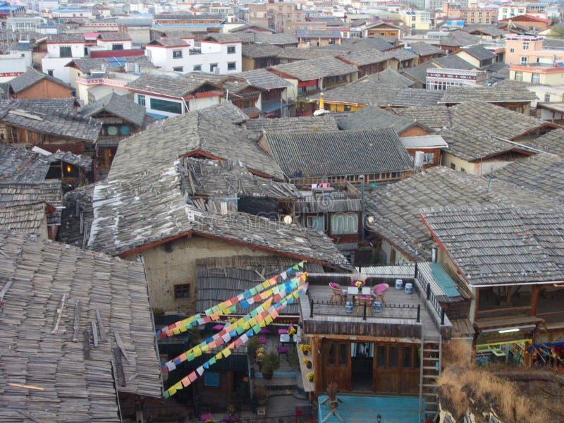 Zhongdian or Shangri-La Old Town.Travel in Zhongdian City , Yunnan China in 2012, November 15th.  stock photos
