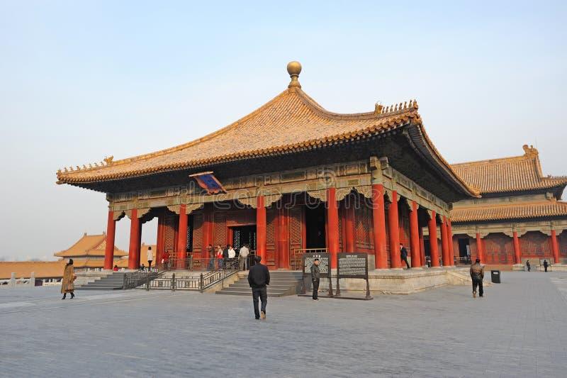 Zhonghedian, la ciudad prohibida (gongo de Gu) fotografía de archivo