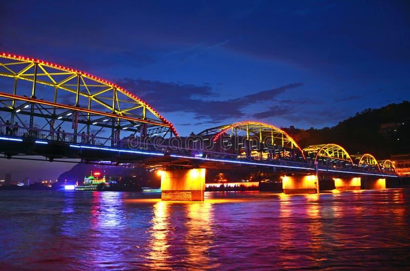 Zhongshan żelaza most zdjęcie royalty free