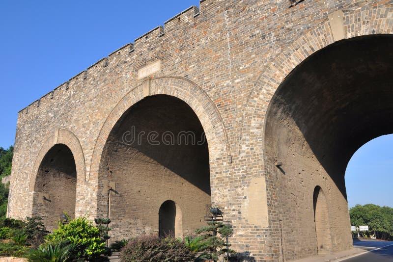 Zhongshan Gate of Nanjing, China. Zhongshan Gate is the eastern gate of City Wall in Nanjing, Jiangsu Province, China. Nanjing City Wall was built between 1360 stock image