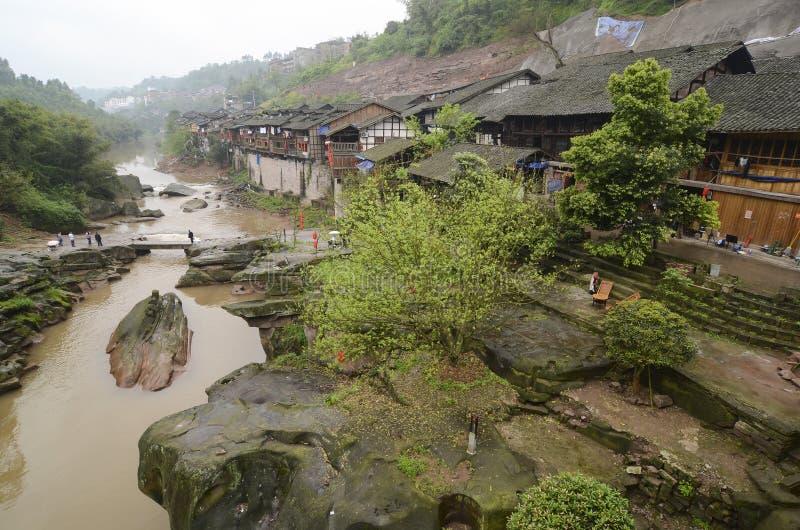 Zhongshan Oude Stad, China. royalty-vrije stock afbeeldingen