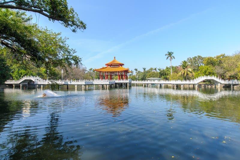 Zhongshan park w Tainan mieście zdjęcie stock