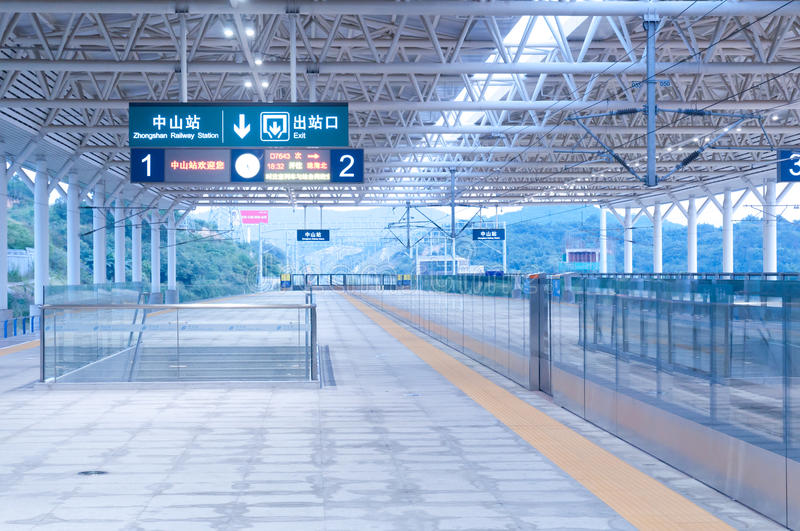 Download Zhongshan railway station editorial stock photo. Image of minutes - 21187093