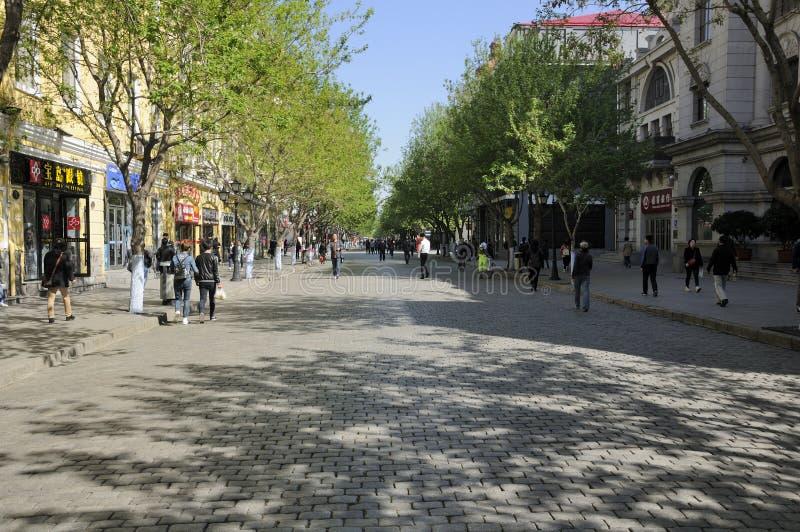 Zhongyang street Harbin China royalty free stock photography