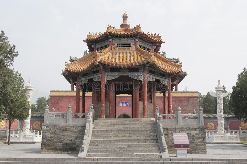 Zhongyue Temple in Dengfeng city, central China. The Zhongyue Temple is located at the foot of Mt. Songshan in the central province of Henan, China. It is also stock images