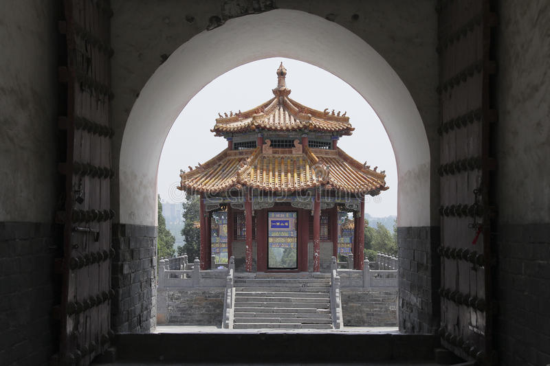 Zhongyue Temple in Dengfeng city, central China. The Zhongyue Temple is located at the foot of Mt. Songshan in the central province of Henan, China. It is also stock image