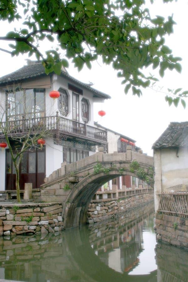 Zhou zhuang (de Stad van Zhou) stock afbeelding