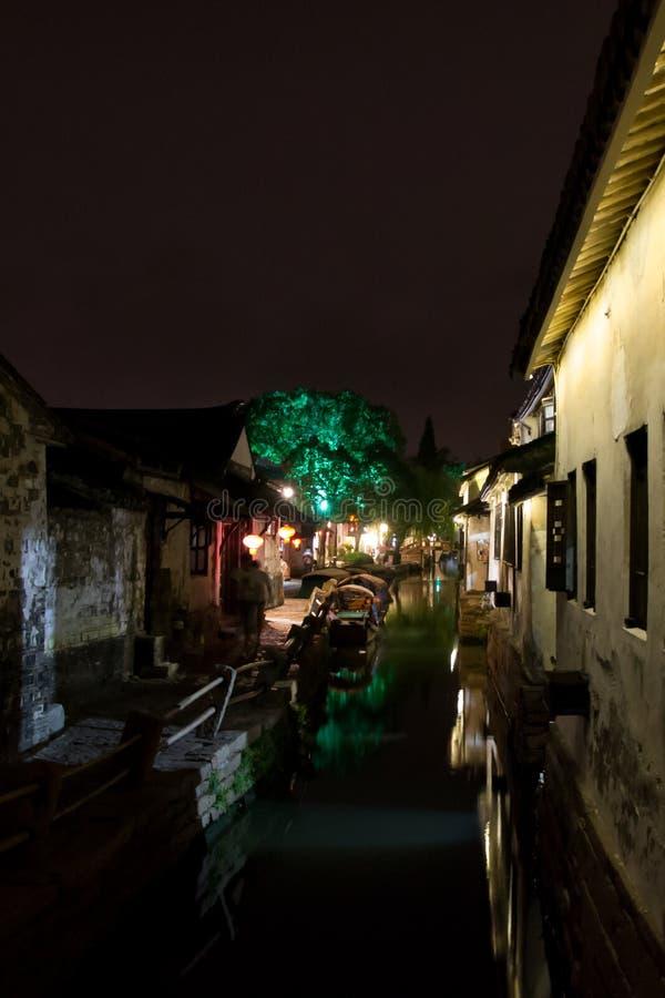 Zhouzhuang la nuit photo libre de droits