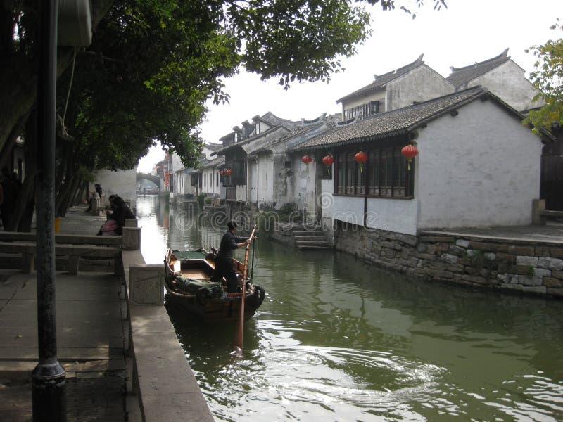 Zhouzhuang Shanghai, Kina arkivfoton