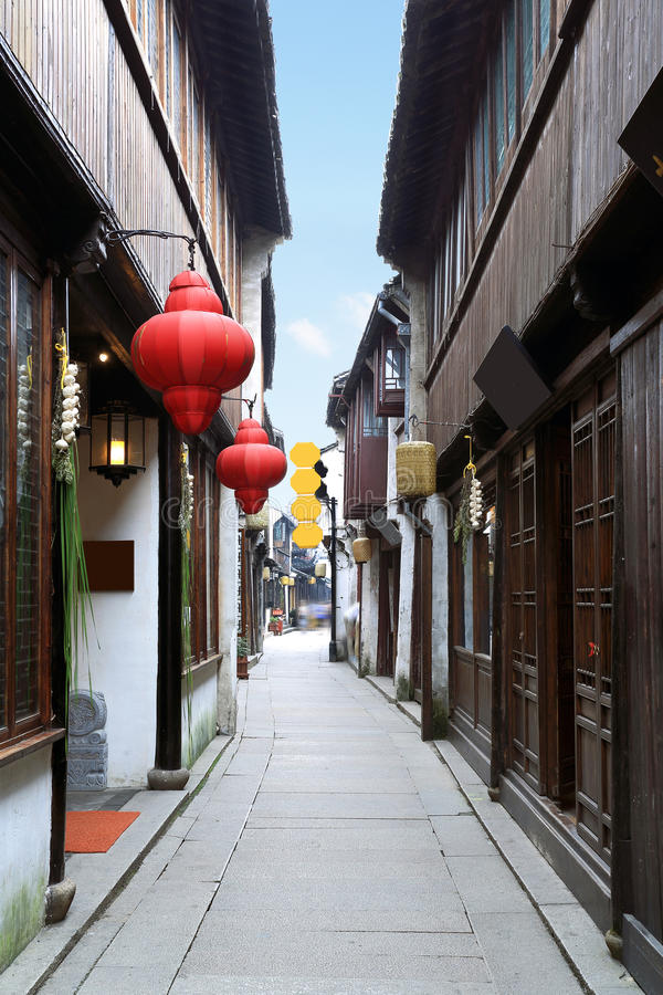 Zhouzhuang street royalty free stock images