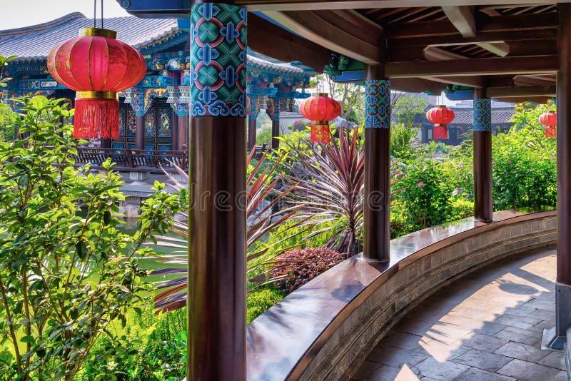 Zhu Family Garden in Jianshui, China stock afbeelding