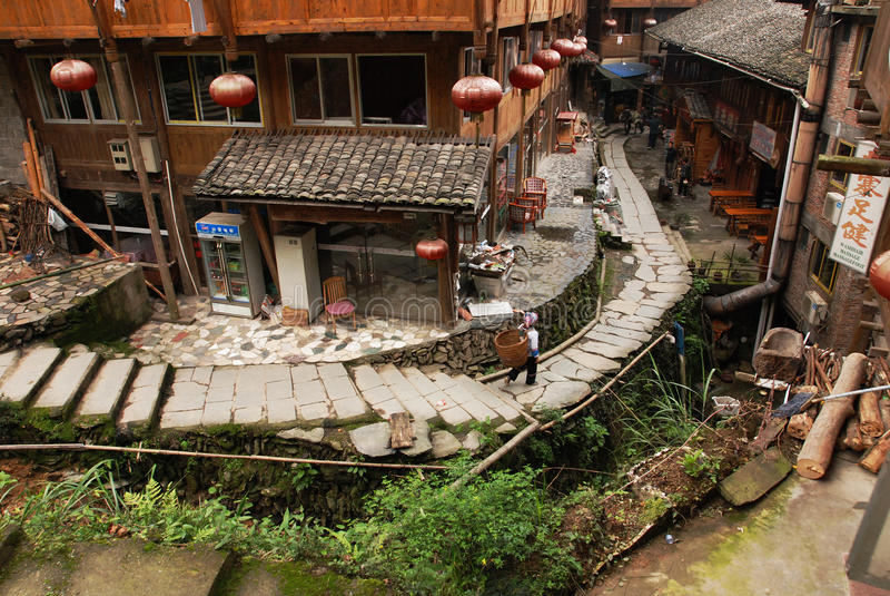 Zhuang village royalty free stock photos