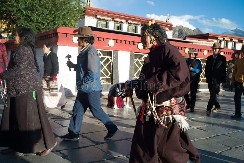 Zhuanjing chez Dazhaosi, Thibet, Chine image stock