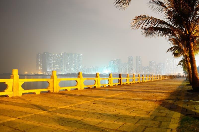 Zhuhai city night scene royalty free stock photography