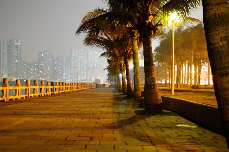 Zhuhai city night scene royalty free stock photos