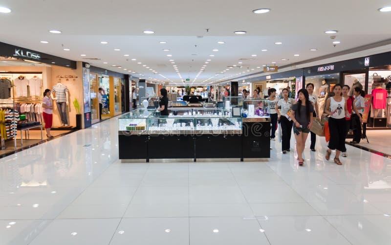 Zhuhai, plaza de compra imagens de stock