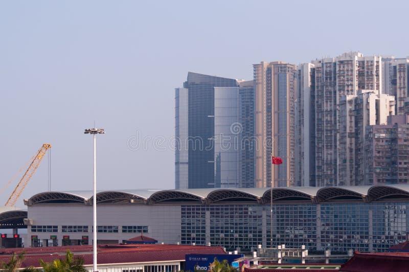 Zhuhai- und Macao-Kanal, China lizenzfreies stockbild