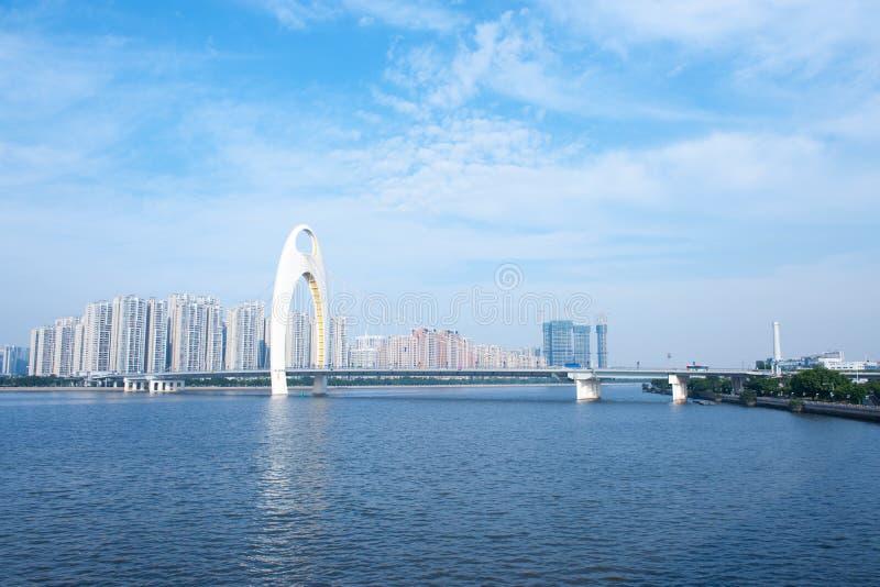 zhujiang реки guanghzou города стоковое изображение rf