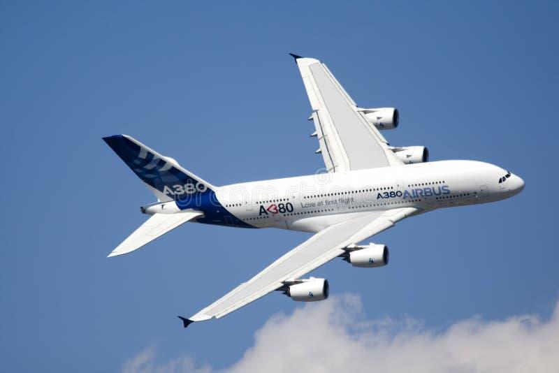 Zhukovsky, Ρωσία 19 Αυγούστου: �380 πτήση επίδειξης στοκ εικόνες