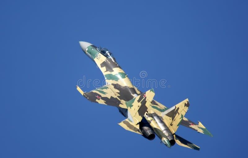 Zhukovsky, Russia- aug 14: Su-35 pilotage stock image