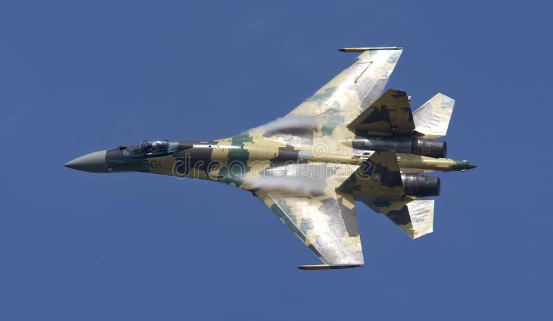 Zhukovsky, Russia- aug 13: Su-35 pilotage royalty free stock image