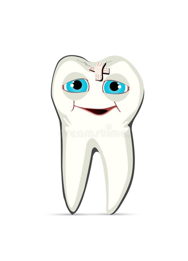 Uzdrawiający ząb ilustracji