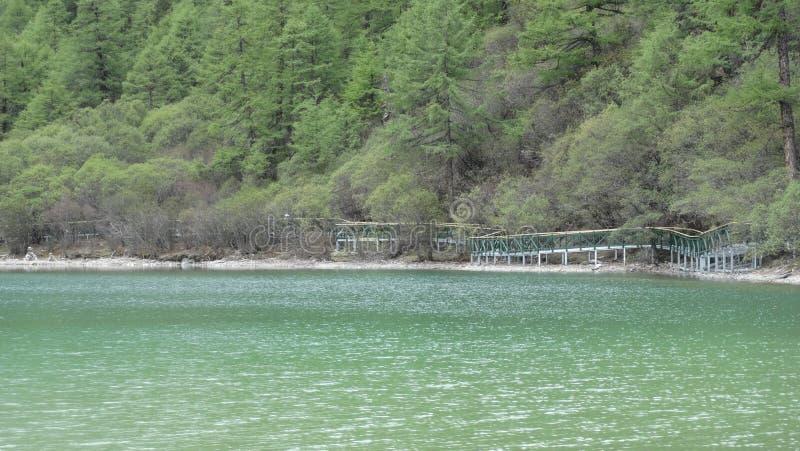 Zhuomalacuo (mer de perle) dans la région scénique de Yading images libres de droits