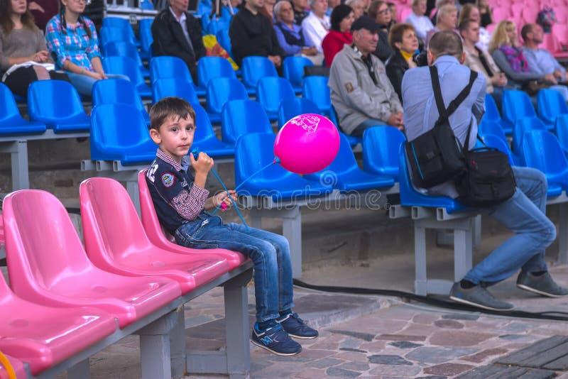 Zhytomyr, Ukraine - 2. September 2016: Freies Musikfestival der Kinderuhr stockfoto