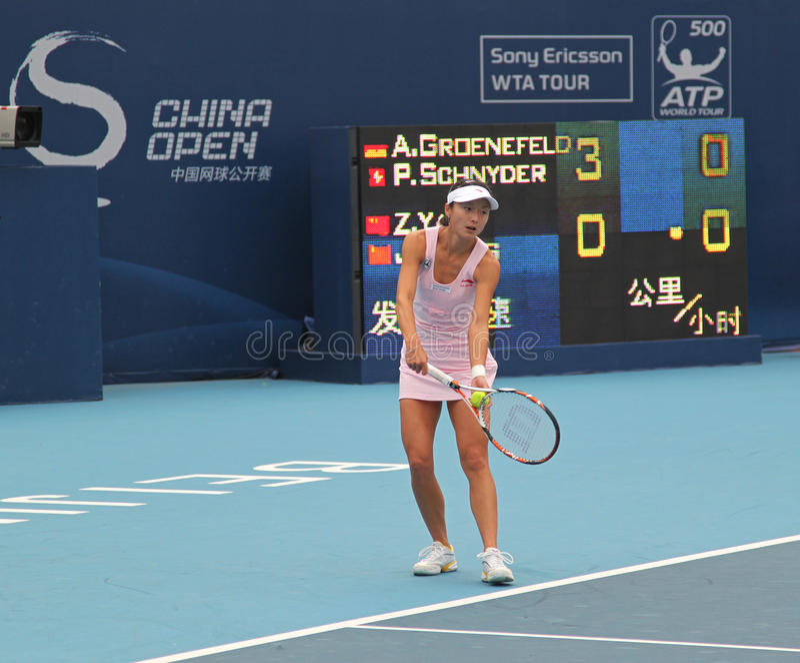 Download Zi Yan (CHN), Professional Tennis Player Editorial Stock Photo - Image: 11739103