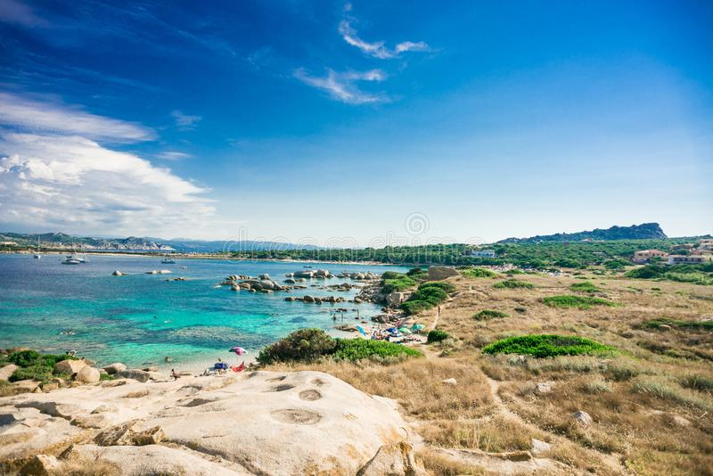 Zia Culumba Beach Testa do Capo, ilha de Sardinia fotos de stock royalty free