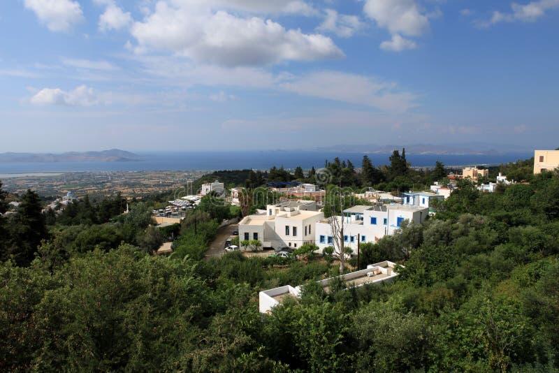 Zia, Kos Island, Greece. Typical Greek Village. Zia, Kos Island, Greece stock images