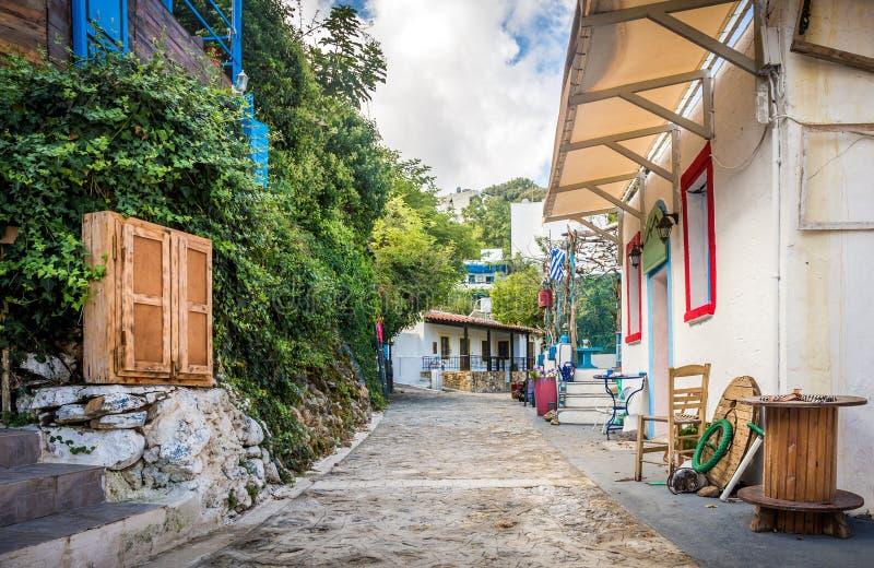 Zia village at Kos island. Captivating Zia village at greek Kos island royalty free stock photo