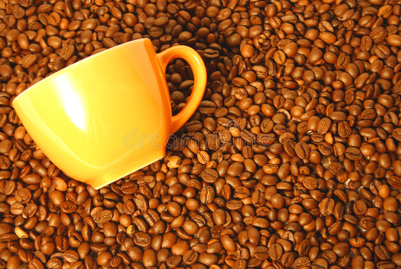 ziarna kawę zdjęcia royalty free