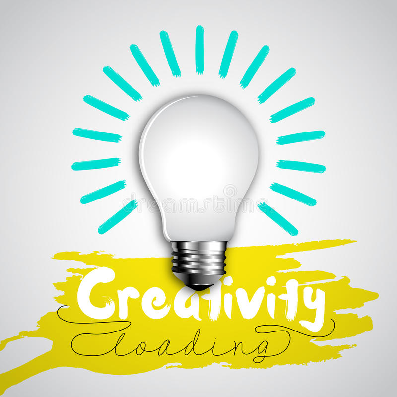 Bulb idea, Design bar vector illustration