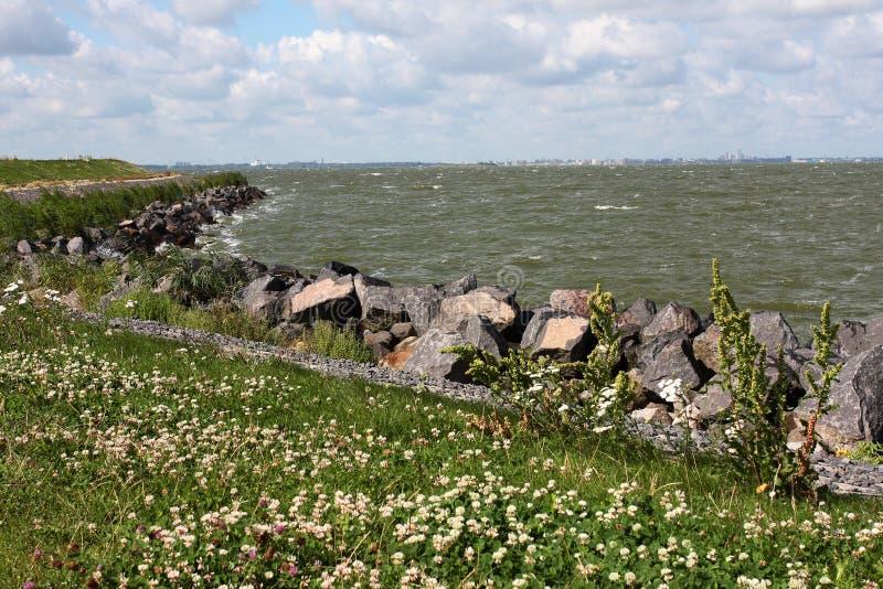 Zicht op IJmeer IJsselmeer стоковая фотография rf