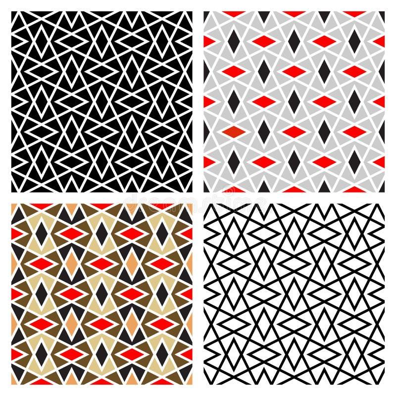 Zickzack-Diamant-Muster vektor abbildung