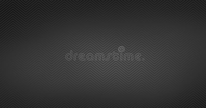 Zickzack maserte schwarzen HD-Hintergrundentwurf Nahtloses Muster des einfachen Sparrens Schablone f?r Drucke, Packpapier, Gewebe stock abbildung