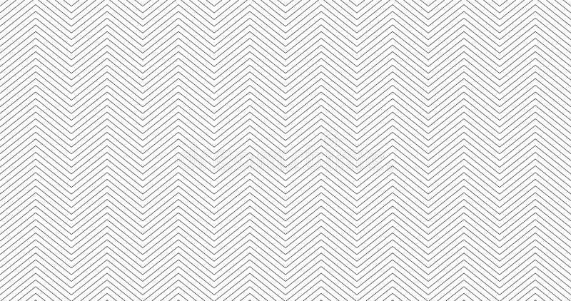 Zickzack maserte weißen Hintergrundentwurf des weißen 16:9 Nahtloses Muster des einfachen Sparrens Schablone für Drucke, Packpapi vektor abbildung