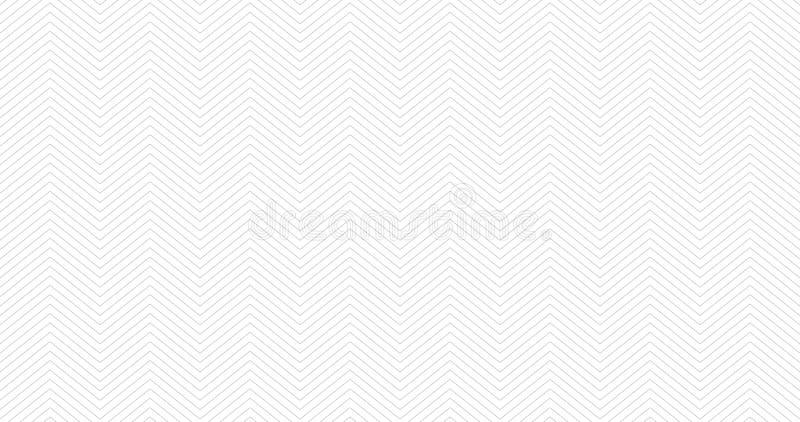 Zickzack maserte weißen 16:9hintergrundentwurf Nahtloses Muster des einfachen Sparrens Schablone für Drucke, Packpapier, Gewebe, stock abbildung